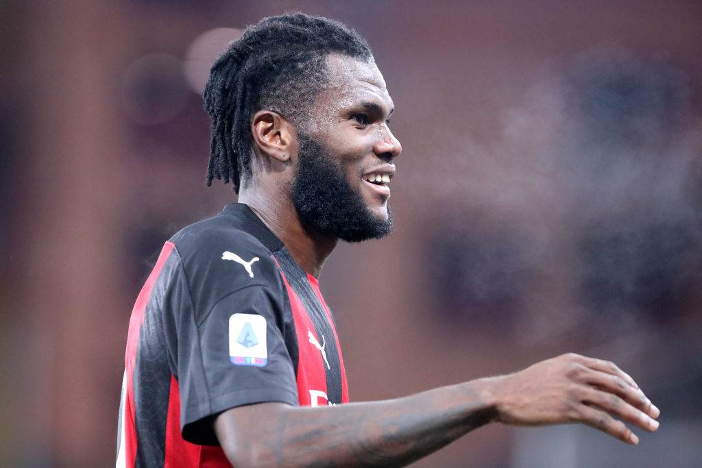 Franck Kessie of Ac Milan  looks on during the Serie A match