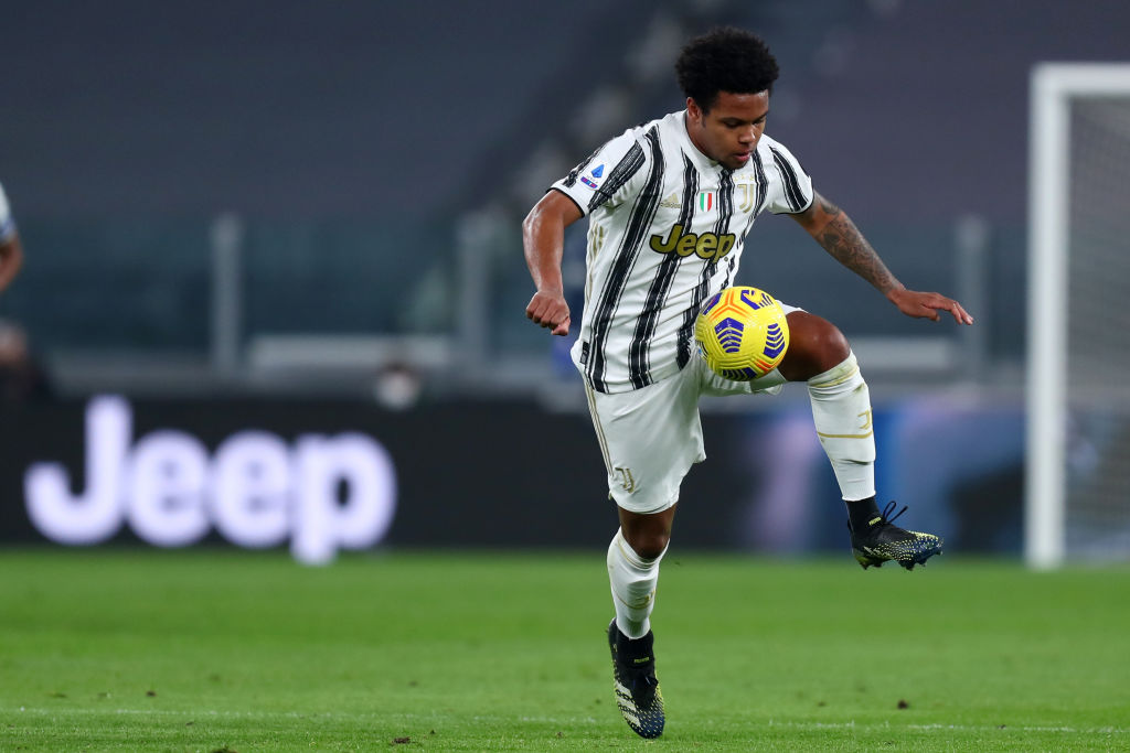 Weston McKennie of Juventus Fc  in action during the Serie A
