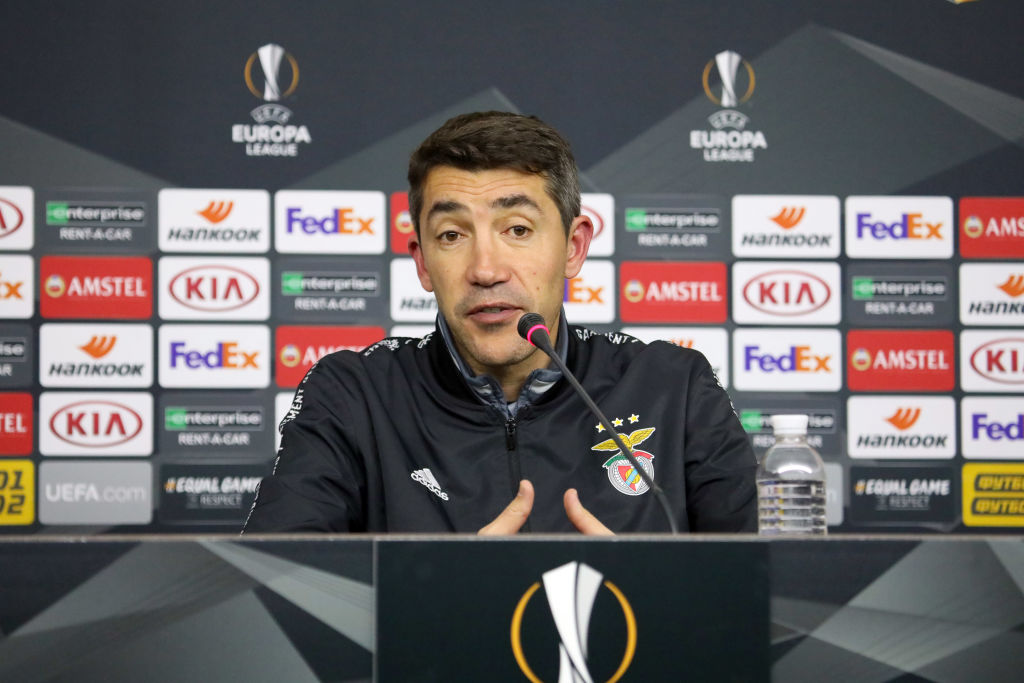 Coaches of Shakhtar, Benfica talk to press after Europa League Round of 32 match in Kharkiv