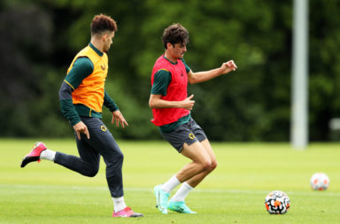 Francisco Trincao First Training Session with Wolverhampton Wanderers