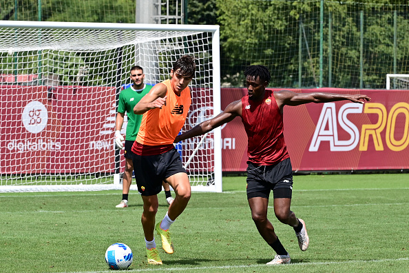 AS Roma Training Session And Press Conference